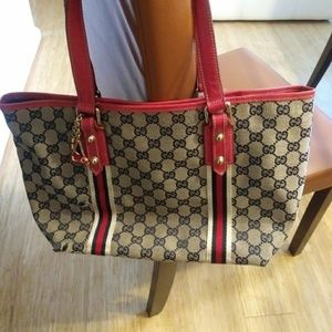 Rare GUCCI TOTE with CHARMS
